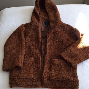 Forever 21 Fuzzy Hooded Sherpa
